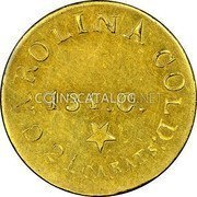 USA $5 Five Dollars (1831-42) KM# 94 Christopher Bechtler (North Carolina) CAROLINA GOLD: 21 CARATS 134. G. * coin reverse