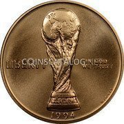 USA $5 Five Dollars (Half eagle) World Cup Tournament 1994 W KM# 248 LIBERTY IN GOD WE TRUST FIFA WORLD CUP 1994 coin obverse