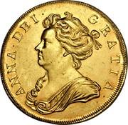 UK 5 Guineas Anne 1706 KM# 521 ANNA ∙ DEI ∙ GRATIA ∙ coin obverse