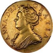 UK 5 Guineas Anne 1709 KM# 532 ANNA ∙ DEI ∙ GRATIA ∙ coin obverse