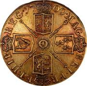 UK 5 Guineas Anne 1709 KM# 532 MAG BR ∙ FRA ET ∙ HIB REG ∙ coin reverse