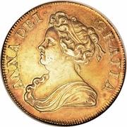 UK 5 Guineas Anne 1713 KM# 535 ANNA ∙ DEI ∙ GRATIA ∙ coin obverse
