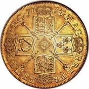 UK 5 Guineas Anne 1713 KM# 535 MAG BR ∙ FRA ET ∙ HIB REG ∙ coin reverse