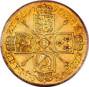 UK 5 Guineas George I 1716 KM# 547 BRVN ET ∙ L ∙ DVX ∙ S ∙ R ∙ I ∙ A ∙ TH ∙ ET ∙ EL ∙ coin reverse