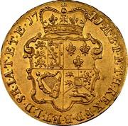 UK 5 Guineas George II (5 Guineas) 1741 KM# 571.1 F ∙ D ∙ B ∙ ET ∙ L ∙ D ∙ S ∙ R ∙ I ∙ A ∙ T ∙ ET ∙ E ∙ M ∙ B ∙ F ∙ ET ∙ H ∙ REX ∙ coin reverse