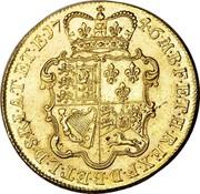 UK 5 Guineas George II (5 Guineas) 1746 KM# 586.1 F ∙ D ∙ B ∙ ET ∙ L ∙ D ∙ S ∙ R ∙ I ∙ A ∙ T ∙ ET ∙ E ∙ M ∙ B ∙ F ∙ ET ∙ H ∙ REX ∙ coin reverse