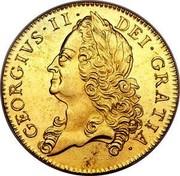 UK 5 Guineas George II (5 Guineas) 1748 KM# 586.2 GEORGIVS ∙ II ∙ DEI ∙ GRATIA coin obverse