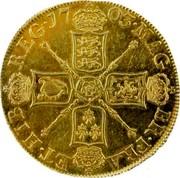 UK 5 Guineas Queen Anne 1703 KM# 520.1 MAG BR ∙ FRA ET ∙ HIB REG ∙ coin reverse