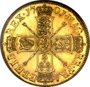 UK 5 Guineas William III 1701 KM# 508 MAG BR ∙ FRA ET ∙ HIB REX ∙ coin reverse