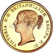 UK 5 Pounds 1839 Proof KM# 742 British Royal Mint Sovereign Coins coin obverse