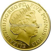 UK 5 Pounds 2013 Proof KM# 1242b Decimal Coins coin obverse