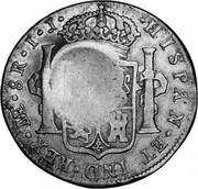UK 5 Shilling Cromford Derbyshire ND KM# 645b HISPAN ET IND REX NE 8R I I coin reverse