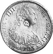 UK 5 Shillings Countermarked 1791-1808 CM Date: ND(1797) KM# 626 GEORGIUS IIII DEI GRATIA coin obverse