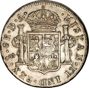 UK 5 Shillings Countermarked 1791-1808 CM Date: ND(1797) KM# 627 HISPAN ET IND REX 8R D A coin reverse