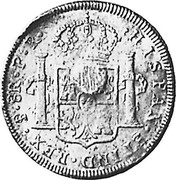 UK 5 Shillings Countermarked 1791-1808 CM Date: ND(1797) KM# 626 HISPAN ET IND REX 8R P R coin reverse