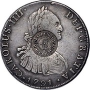 UK 5 Shillings Donald & CO Birmingham ND KM# 645c CAROLUS IIII DEI GRATIA 1791 DONALD & CO ∙ BIRMINGHAM 5/ coin obverse