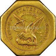 USA $50 Fifty Dollars 1851 KM# 31.1a Dunbar & Company UNITED STATES OF AMERICA LIBERTY 887 THOUS 50 D C coin obverse