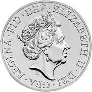 UK 50 Pounds Britannia 2015 British Royal Mint KM# 1307 ELIZABETH II DEI GRA REGINA FID DEF J.C coin obverse