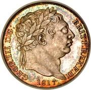 UK 6 Pence George III 1817 KM# 665 GEOR: III D:G: BRITT: REX F:D: coin obverse
