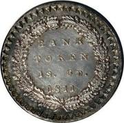 UK Bank Token 1s. 6d. George III 1811 KM# Tn2 BANK TOKEN 1S. 6D. YEAR coin reverse