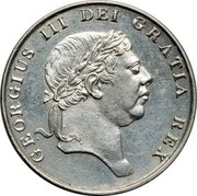 UK Bank Token 1s. 6d. George III 1814 KM# Tn3 GEORGIUS III DEI GRATIA REX coin obverse