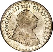 UK Bank Token 3 Shill. George III 1812 KM# Tn4 GEORGIUS III DEI GRATIA REX coin obverse