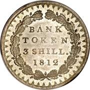 UK Bank Token 3 Shill. George III 1812 KM# Tn4 BANK TOKEN 3 SHILL. YEAR coin reverse