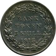 UK Bank Token 3 Shill. George III 1813 KM# Tn5 BANK TOKEN 3 SHILL. YEAR coin reverse