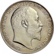 UK Crown 1902 Matte Proof KM# 803 Pre-Decimal coinage coin obverse