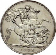 UK Crown 1902 Matte Proof KM# 803 Pre-Decimal coinage coin reverse