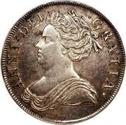 UK Crown Anne 1713 KM# 536 ANNA ∙ DEI - GRATIA ∙ coin obverse
