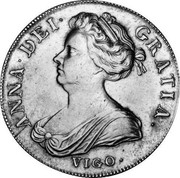 UK Crown Anne no plumes in angles 1703 KM# 519.1 ANNA ∙ DEI ∙ - GRATIA ∙ coin obverse