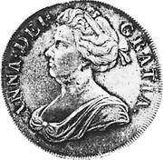 UK Crown Anne plumes in angles 1705 KM# 519.2 ANNA ∙ DEI ∙ - GRATIA ∙ coin obverse