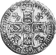 UK Crown Anne plumes in angles 1705 KM# 519.2 MAG - BR ∙ FRA - ET HIB - REG ∙ coin reverse