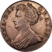 UK Crown Anne Plumes in angles 1707 KM# 526.3 ANNA∙DEI∙ GRATIA∙ coin obverse