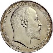 UK Crown Edward VII 1902 Matte Proof KM# 803 EDWARDVS VII DEI GRA: BRITT: OMN: FID: DEF: IND: IMP: coin obverse
