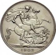 UK Crown Edward VII 1902 Matte Proof KM# 803 1902 B.P. coin reverse