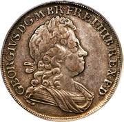 UK Crown George I C and SS 1723 KM# 545.2 GEORGIVS D ∙ G ∙ M ∙ BR ∙ FR ∙ ET ∙ HIB ∙ REX ∙ F ∙ D ∙ coin obverse