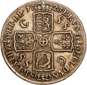 UK Crown George I C and SS 1723 KM# 545.2 BRVN - ET ∙ L ∙ DVX - S ∙ R ∙ I ∙ A ∙ TH - ET ∙ EL coin reverse