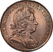 UK Crown George I Roses and plumes 1716 KM# 545.1 GEORGIVS D ∙ G ∙ M ∙ BR ∙ FR ∙ ET ∙ HIB ∙ REX ∙ F ∙ D ∙ coin obverse