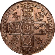 UK Crown George I Roses and plumes 1716 KM# 545.1 BRVN ET∙L∙DVX SR∙T∙A:TH ET∙EL∙*YEAR*∙ coin reverse
