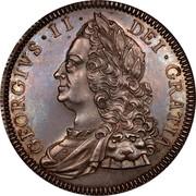UK Crown George II 1746 Proof KM# 585.2 GEORGIVS ∙ II ∙ - DEI ∙ GRATIA ∙ coin obverse