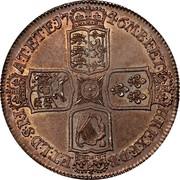 UK Crown George II LIMA 1746 KM# 585.3 F ∙ D ∙ B ∙ - ET ∙ L ∙ D ∙ S ∙ R ∙ I ∙ - A ∙ T ∙ ET ∙ E ∙ - M ∙ B ∙ F ∙ ET ∙ - H ∙ REX ∙ coin reverse