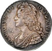 UK Crown George II Roses 1741 KM# 575.2 GEORGIVS ∙ II ∙ - DEI ∙ GRATIA ∙ coin obverse