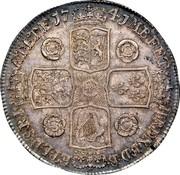 UK Crown George II Roses 1741 KM# 575.2 F ∙ D ∙ B ∙ - ET ∙ L ∙ D ∙ S ∙ R ∙ I ∙ - A ∙ T ∙ ET ∙ E ∙ - M ∙ B ∙ F ∙ ET ∙ - H ∙ REX ∙ coin reverse