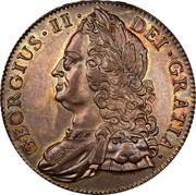 UK Crown George II Roses 1743 KM# 585.1 GEORGIVS ∙ II ∙ - DEI ∙ GRATIA ∙ coin obverse
