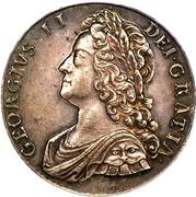 UK Crown George II Roses and plumes 1735 KM# 575.1 GEORGIVS ∙ II ∙ - DEI ∙ GRATIA ∙ coin obverse
