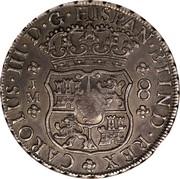 UK Crown George III 1760-1772 CM Date: ND(1797) KM# 635 CAROLVS III D G HISPAN ET IND REX J M 8 coin reverse