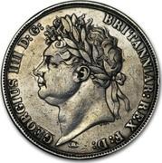UK Crown George IIII 1821 Proof KM# 680.1 GEORGIUS IIII D:G: BRITANNIAR: REX F:D: coin obverse