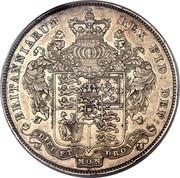 UK Crown George IV 1826 Proof. LVIII on edge KM# 699 BRITANNIARUM REX FID : DEF : DIEU ET MON DROIT. coin reverse